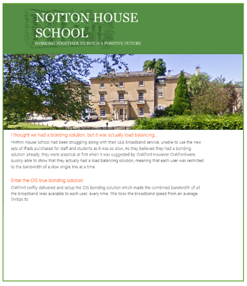 Large Specialist School Support